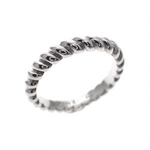 zilveren gedraaide ring zinzi