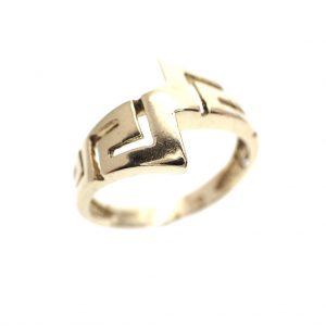 gouden ring meander motief versace