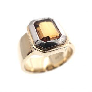 gouden ring goudtopaas