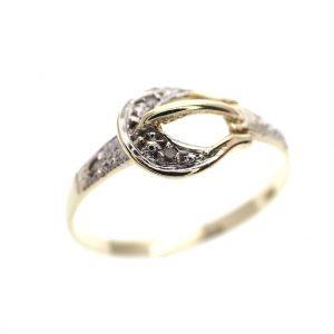 gouden ring gesp riem diamanten