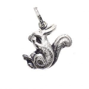 zilveren hanger eekhoorn