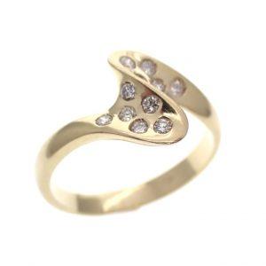 gouden ring 18 karaat met diamanten