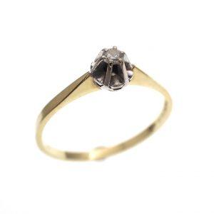 gouden solitair ring diamant