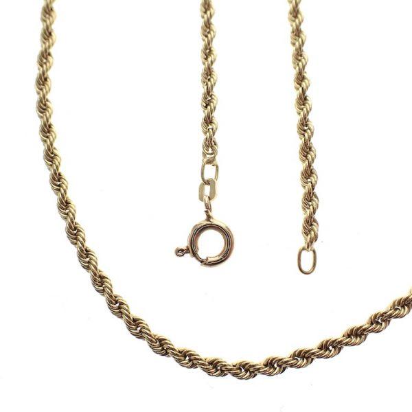 gouden gedraaide collier