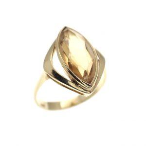 vintage gouden ring goudtopaas