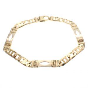 bicolor gouden armband wiebertjes