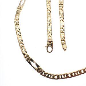 bicolor gouden ketting wiebertjes