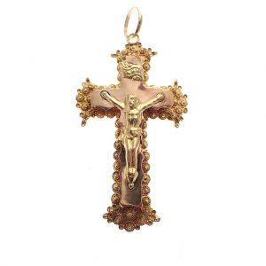 gouden kruis hanger antiek filigrain