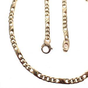 gouden figaro ketting dik