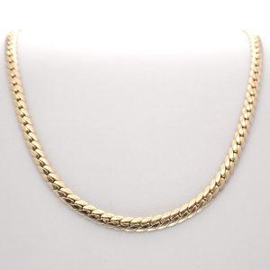 gouden gladde collier