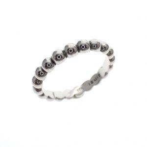 zilveren bolletjes ring zinzi