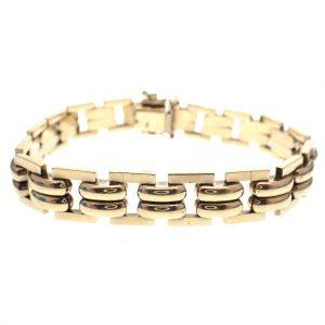 gouden brede armband