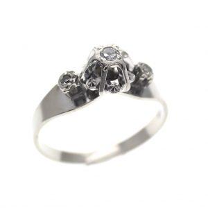 vintage witgouden ring diamanten