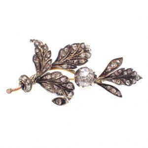 antieke broche met diamanten