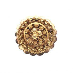 antiek gouden broche