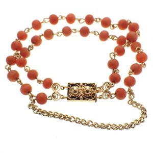 bloedkoraal gouden armband