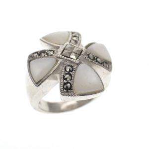 zilveren dames ring