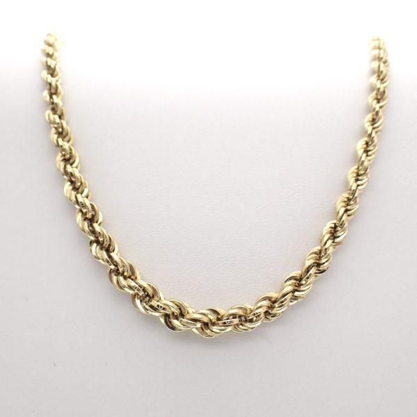 gedraaide gouden ketting
