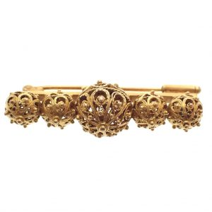 gouden filigrain broche