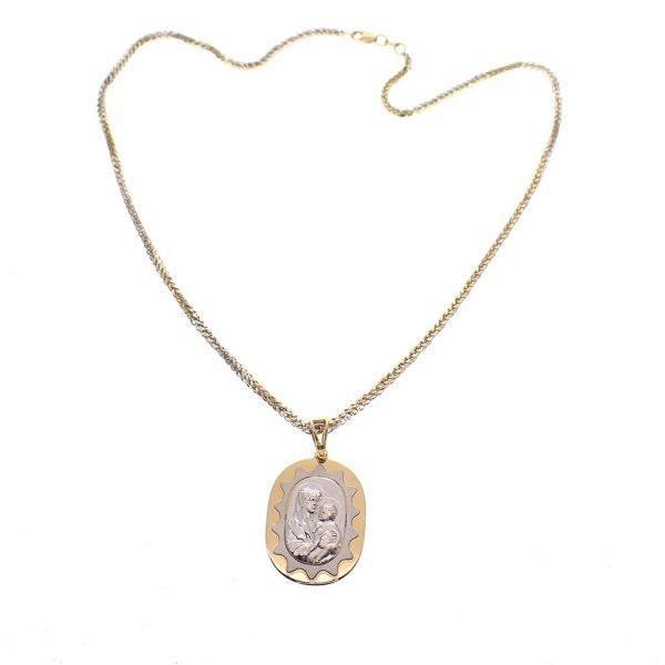 gouden ketting hanger Maria