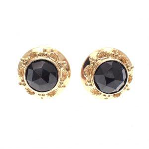 gouden oorbellen met granaat steen
