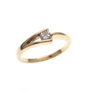 gouden dames ring met briljant