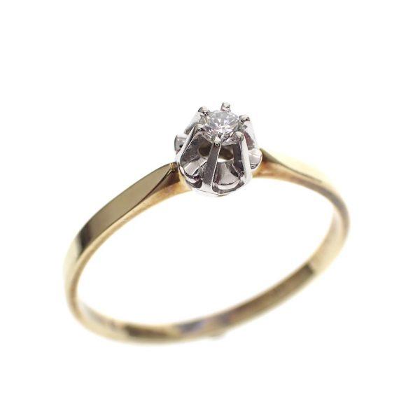 gouden verlovings ring goedkoop