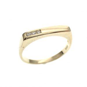 gouden ring met diamant