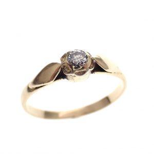 vintage dames verlovingsring diamant