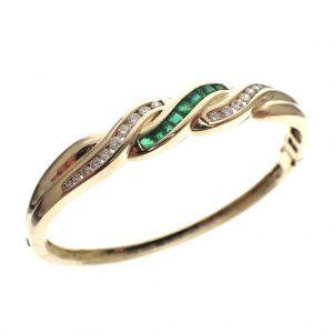 gouden dames armband smaragd