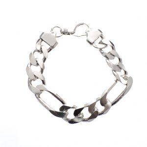 massief zilveren heren armband
