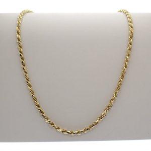 gouden dames ketting zonder hanger