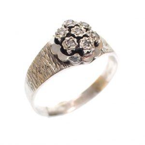 witgouden antieke dames ring