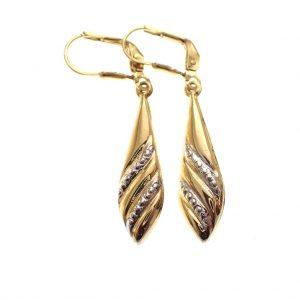 gouden dames oorbellen