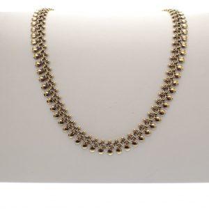 vintage gouden dames ketting