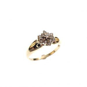 gouden entourage ring diamant