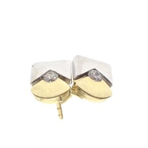 bicolour gouden oorstekers
