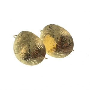 Gouden oorbellen met gravures