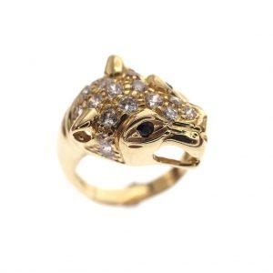 gouden panter ring