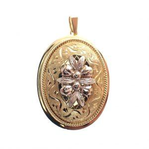 gouden vintage kettinghanger dames