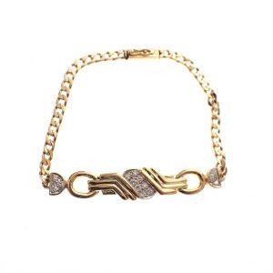 vintage gouden heren armband