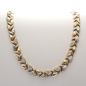 gouden collier met diamant dames