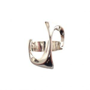 zilveren aparte dames ring