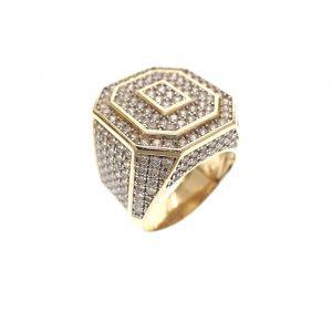 dikke gouden heren ring