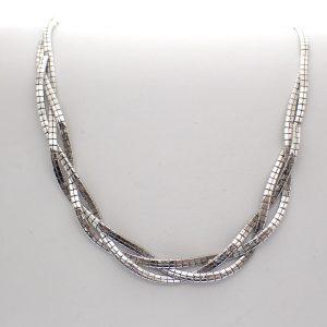 gevlochten ketting zilver