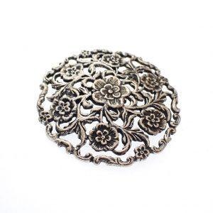 grote zilveren broche antiek
