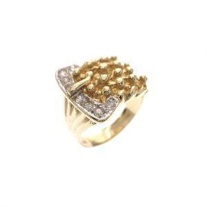 dikke gouden ring als riem