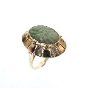 antiek gouden dames ring