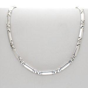zilveren dames collier