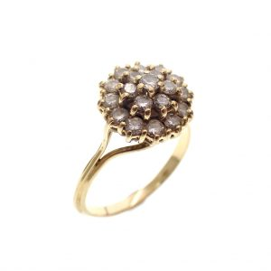 gouden cocktail ring diamant